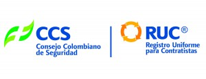 LOGO RUC Consejo Colombiano de Seguridad Registro Uniforme para Contratistas Logo Bureau Veritas OMIA normas ISO 9001, ISO 14001,OHSAS 18001, RUC y Norsok-S-006, certificado por BVQI y Consejo Colombiano de Seguridad.
