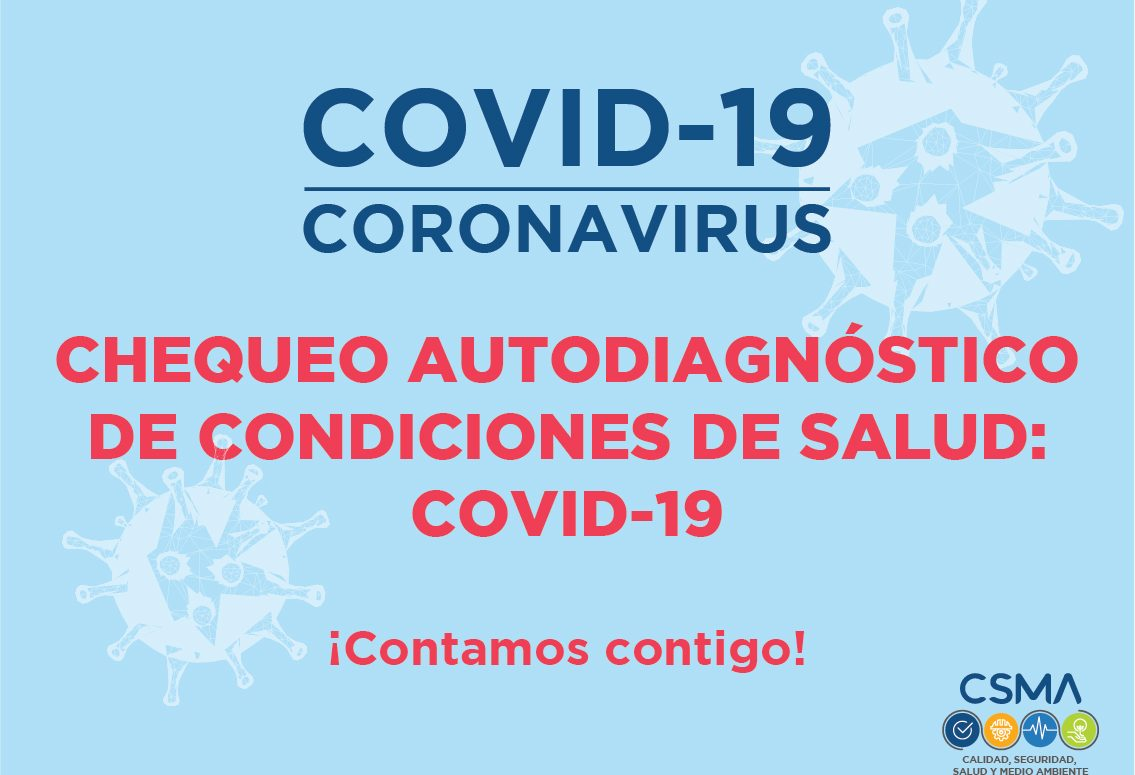 CHEQUEO AUTODIAGNÓSTICO DE CONDICIONES DE SALUD:  COVID -19